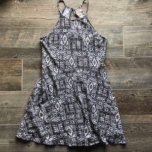 Skater style printed dress